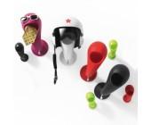 CRAZY HEAD [6 PEZZI] porta casco e chiavi arredo  per esterni ed interni